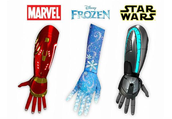 Lançadas próteses de braço inspiradas em personagens, para alegrar crianças com deficiência