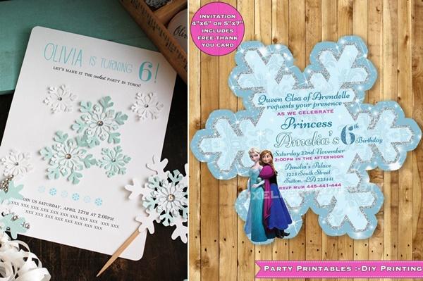 Convite frozen: 16 modelos para uma festa de princesa!