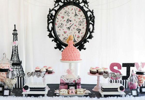 45 ideias para fazer uma linda festa da Barbie!