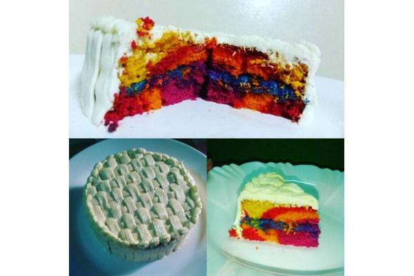 Bolo colorido: receita fácil e decoração impecável para a próxima festa!