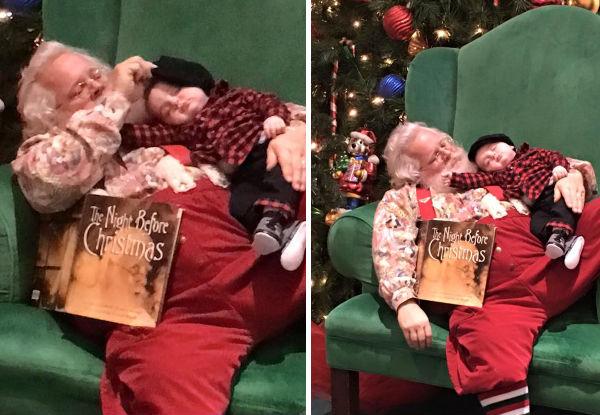 Um bebê dorme enquanto espera o Papai Noel – e o que acontece a seguir é emocionante!