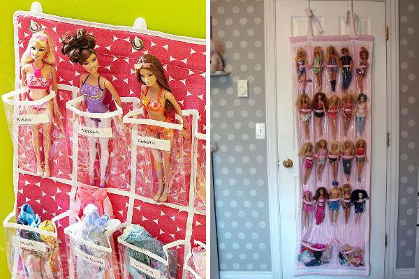 10 ideias para organizar as bonecas da sua filha (e colocar ordem na bagunça!)