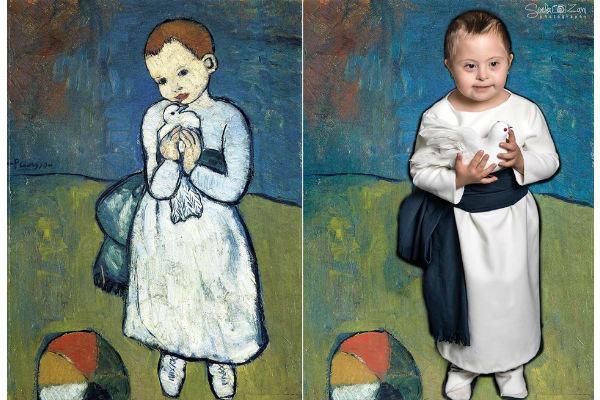Crianças com Síndrome de Down emocionam como modelos de obras de arte