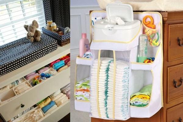 15 ideias super bacanas para organizar o trocador do bebê