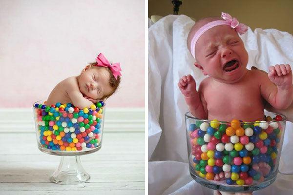 20 ensaios caseiros de bebês nos quais a realidade é bem diferente da expectativa!