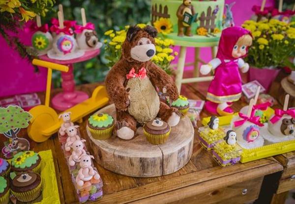 Festa Masha e o Urso: mais de 50 novas lindas ideias!