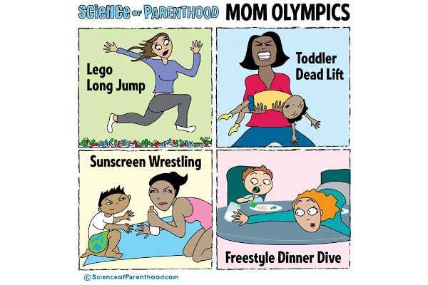 10 modalidades olímpicas em que toda mãe merece medalha de ouro (para rir!)