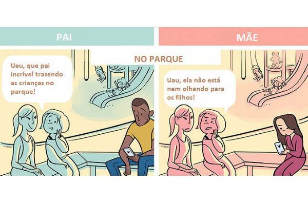 5 tirinhas que mostram a diferença entre pais e mães