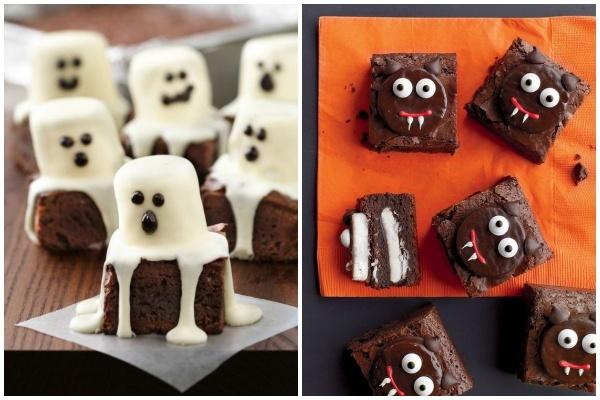 comidinhas de halloween brownies