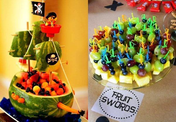 Enfeites de frutas para a festa do seu filho!