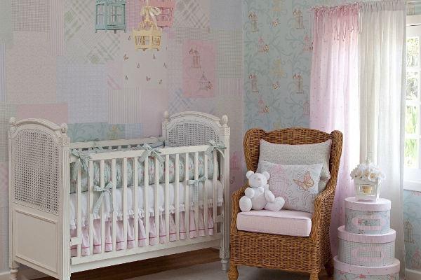 20 ideias irresistíveis de quartos de bebê em tom pastel