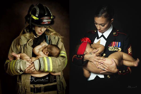 Imagens de mães que amamentam no trabalho provam que nem sempre o desmame acontece!