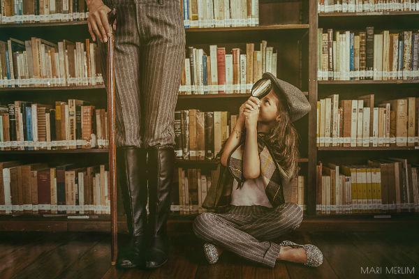 Ensaio Sherlock Holmes protagonizado por uma… garota! Porque nossas meninas são demais!
