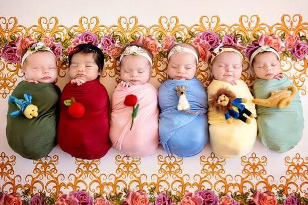Recém-nascidas interpretam princesas no ensaio mais fofo do mundo