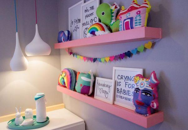 Prateleiras para quarto de bebê e criança: os modelos mais fofos e criativos para você escolher!