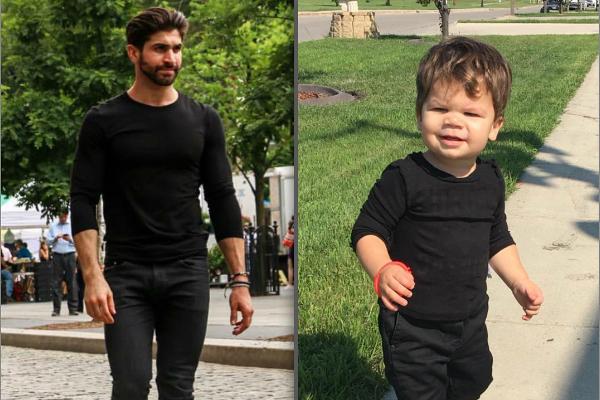 Bebê conquista a internet imitando tio modelo