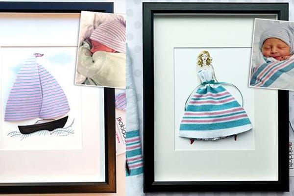 Mãe faz arte com roupas de bebês (muito fofo!)