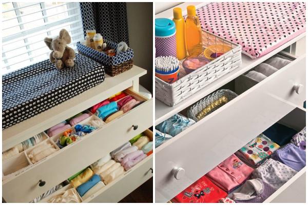 Dicas essenciais para organizar a cômoda do bebê (um mini manual!)
