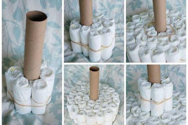 Como fazer um bolo de fraldas (um passo a passo simples!)