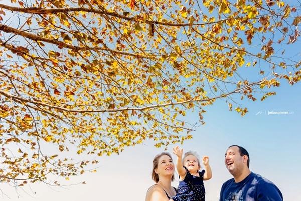 Fotos de outono incríveis para tirar com seu filho!