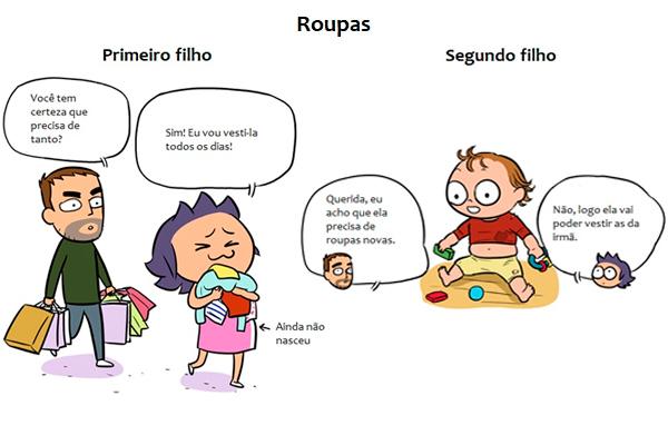 Ilustradora retrata com humor as diferenças entre o primeiro e o segundo filho