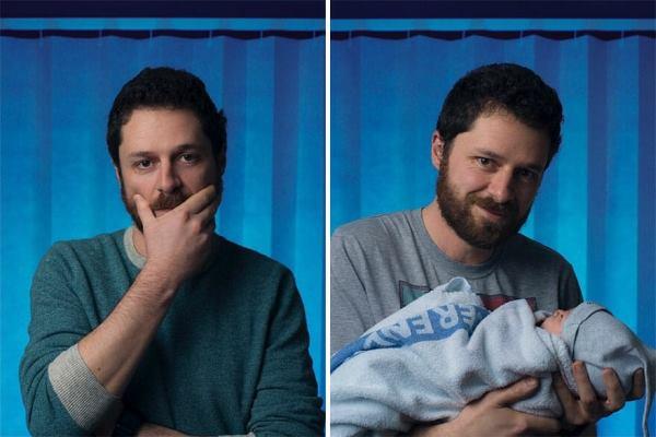 Fotógrafo registra pais antes e depois de conhecerem seus filhos (lindo!)