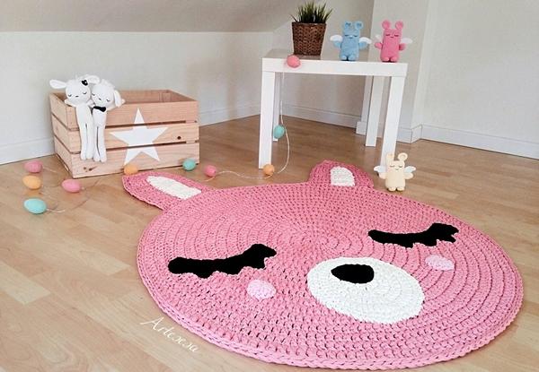 Decoração infantil em tricô e crochê: tapetes, almofadas, brinquedos e mais!