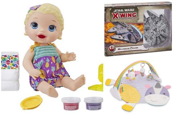 Até 500 reais de desconto em brinquedos: Baby Alive, Skip Hop e muito mais!