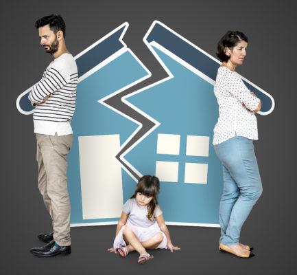 Divórcio de casal com criança