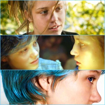 cenas do filme Azul é a cor mais quente