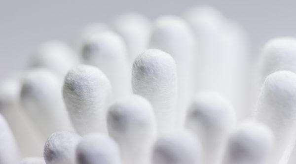 Cotonetes para teste do cotonete